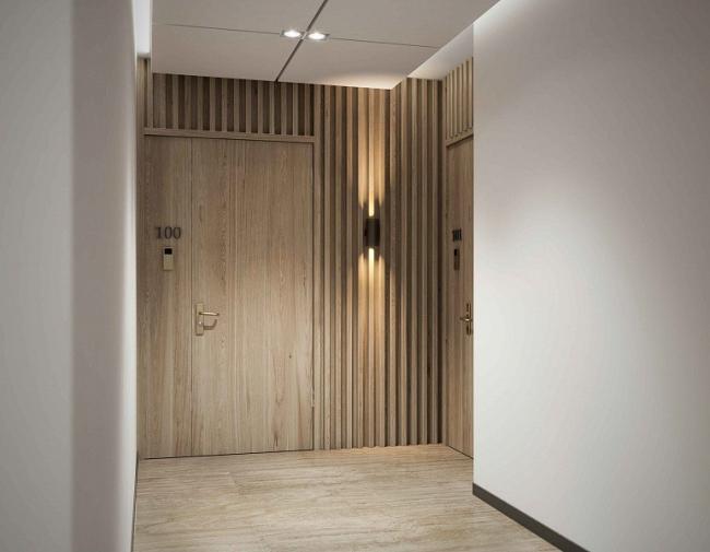 ЖК «Оливковый дом», интерьеры общественных зон, проект