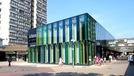Библиотека «Магазин идей» на Крисп-Стрит, Лондон