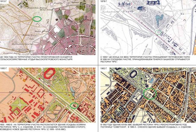 История застройки участка: планы и карты местности. Многофункциональный комплекс «Алкон III»