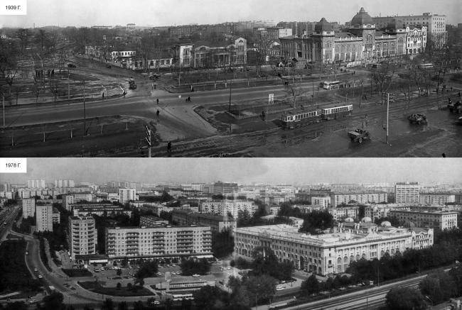 История застройки участка: панорамы. Многофункциональный комплекс «Алкон III»