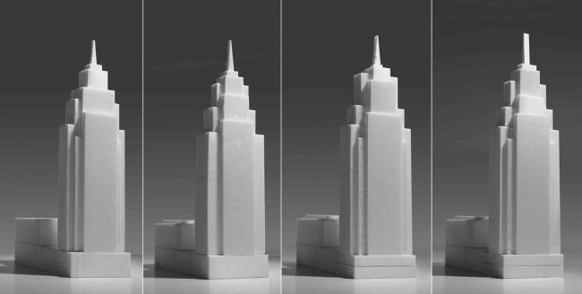 Варианты объемного решения башни. Комплекс апартаментов Alcon Tower и многофункциональный комплекс Alcon III