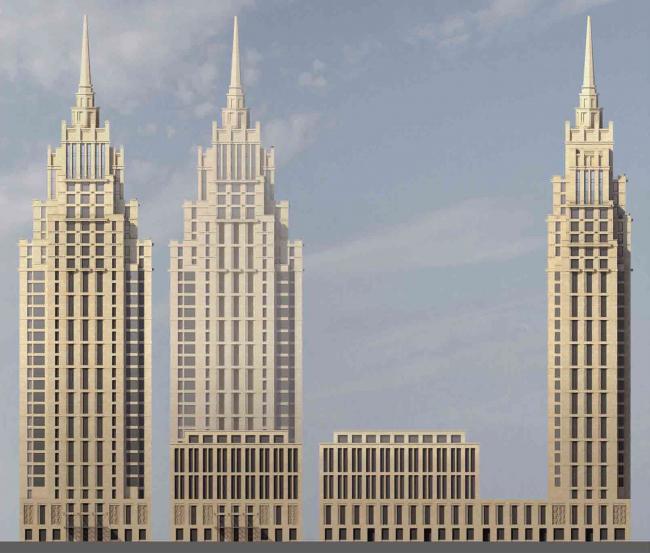 Фасады вариант 2. Многофункциональный комплекс «Алкон III»