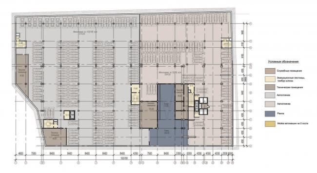 План 3-го этажа. Многофункциональный комплекс «Алкон III»