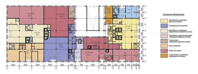 План 1-го этажа. Многофункциональный комплекс «Алкон III»