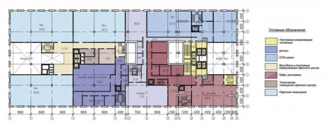 План 2-го этажа. Многофункциональный комплекс «Алкон III»