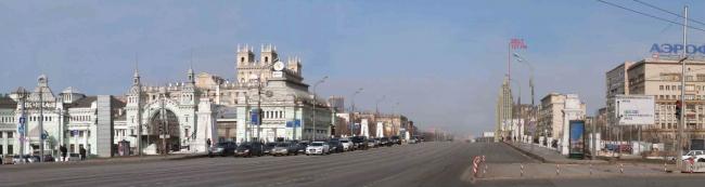 Площадь Белорусского вокзала. Вид в сторону объекта исследования. Многофункциональный комплекс «Алкон III»
