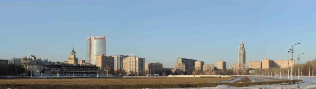 Центральный Московский ипподром. Вид в сторону объекта исследования. Многофункциональный комплекс «Алкон III»