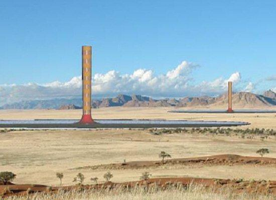 Солнечная башня Greentower в Намибии