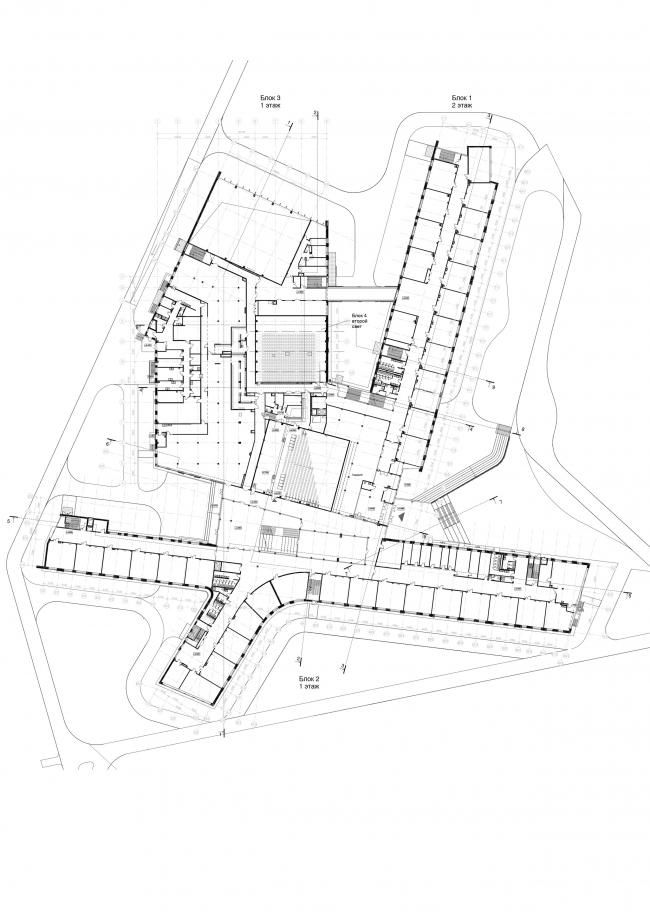 Школа на 2100 мест в Троицке. План 2-го этажа