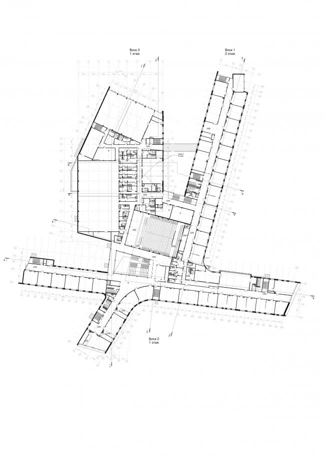 Школа на 2100 мест в Троицке. План 3-го этажа