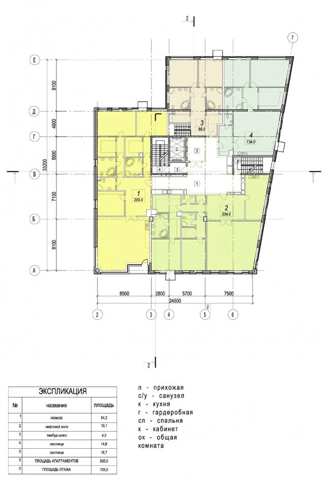 Edison House. План типового этажа. Проект 2010 года