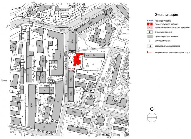 Edison House. Схема ситуационного плана. Проект 2014 года