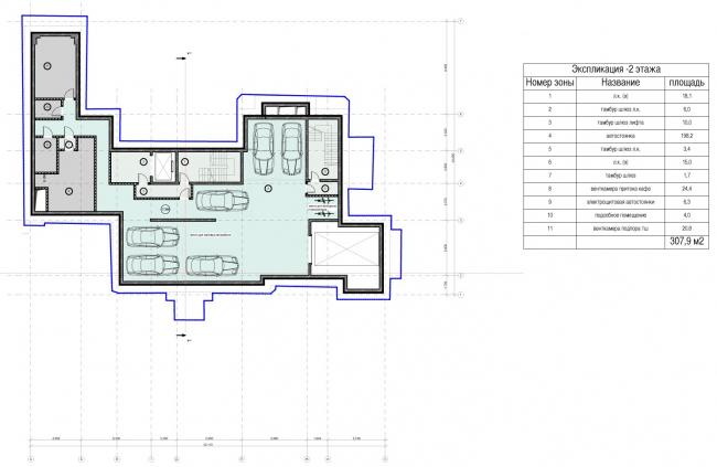 Edison House. Схема плана -2 этажа. Проект 2014 года