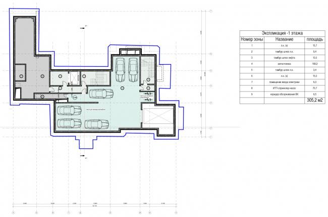 Edison House. Схема плана -1 этажа. Проект 2014 года
