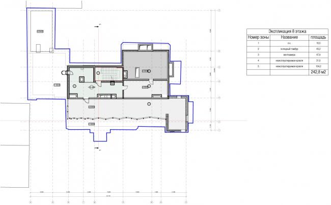 Edison House. Схема плана 7 этажа. Проект 2014 года