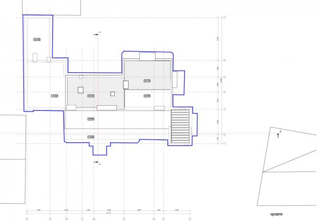 Edison House. Схема плана кровли. Проект 2014 года