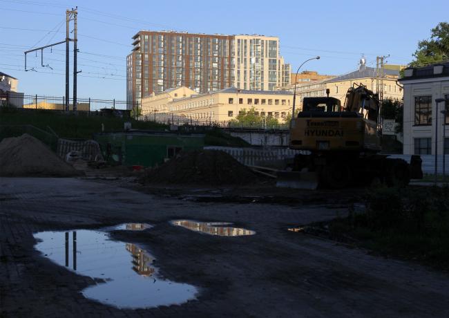 Клубный комплекс «Басманный, 5», вид от Каланчевской улицы