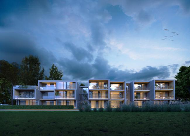 Концепт «Многоквартирный дом».  Латвия, Лиепая