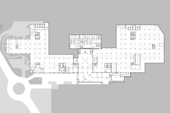 """План -1 этажа. Офисный комплекс """"COMCITY"""""""