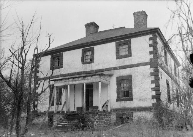 Дом на плантации Менокин. Историческая фотография
