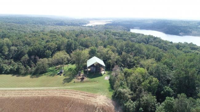Дом на плантации Менокин. Современная аэрофотосъемка
