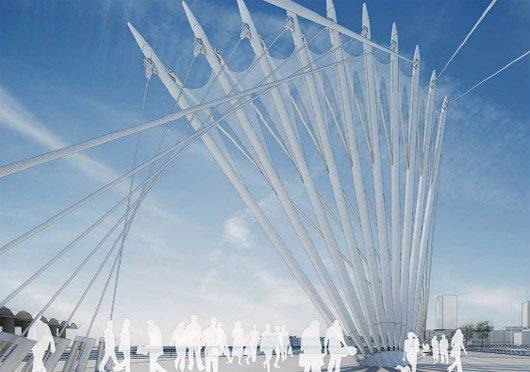 Мост Те Веро. Конкурсный проект «Уилкинсон Эе»
