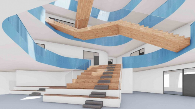 """Architectural concept of the """"Novy Vzglyad"""" school"""
