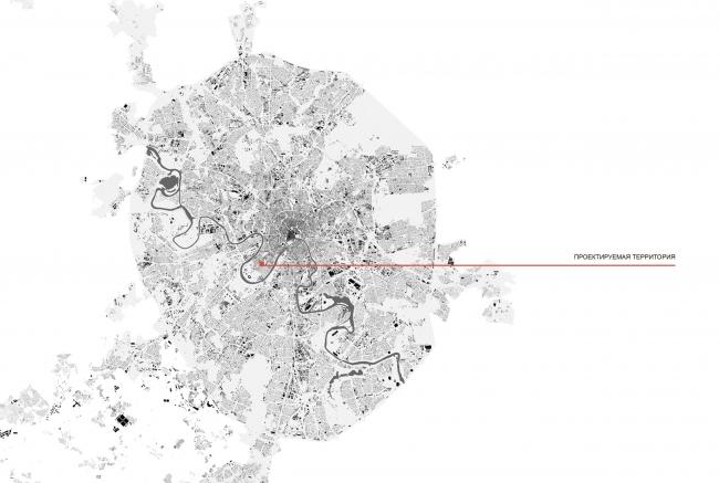 Схема расположения объекта в городе. Школа при МГИМО в составе ЖК «Садовые кварталы»