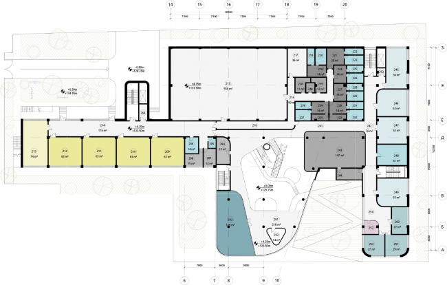 Школа в «Садовых Кварталах». Схема плана второго этажа