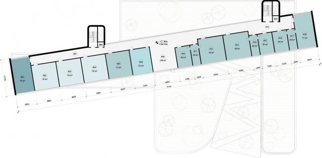 Школа в «Садовых Кварталах». Схема плана четвертого этажа