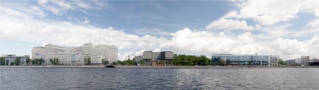 Вид с Аптекарской наб. Жилой дом на набережной Черной речки и Большой Невки