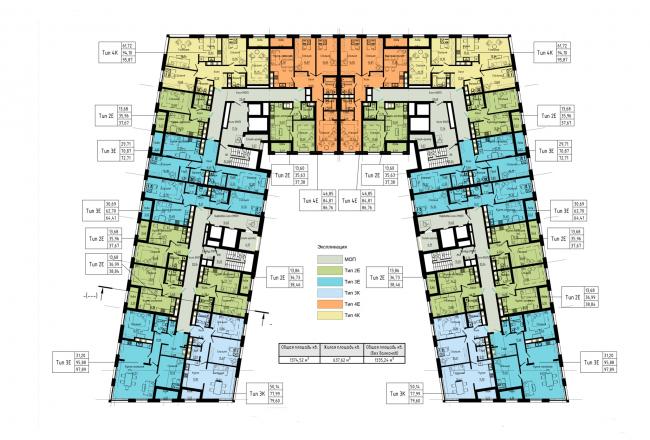 План 6-9 этажей. Жилой дом на набережной Черной речки и Большой Невки
