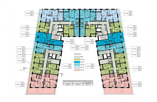 План 10-го этажа. Жилой дом на набережной Черной речки и Большой Невки