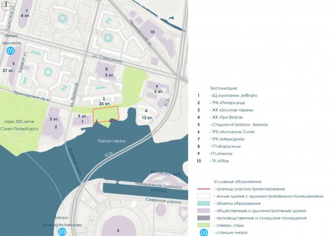 Ситуационный план. Архитектурно-градостроительный облик гостиницы