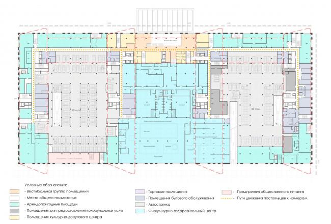 План 2-го этажа. Архитектурно-градостроительный облик гостиницы