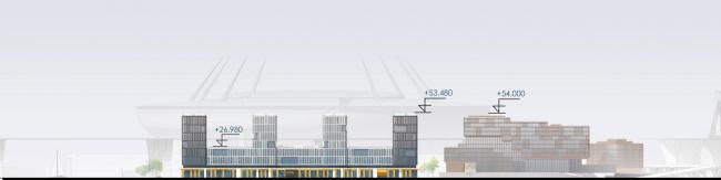 Развертка по Приморскому проспекту. Архитектурно-градостроительный облик гостиницы