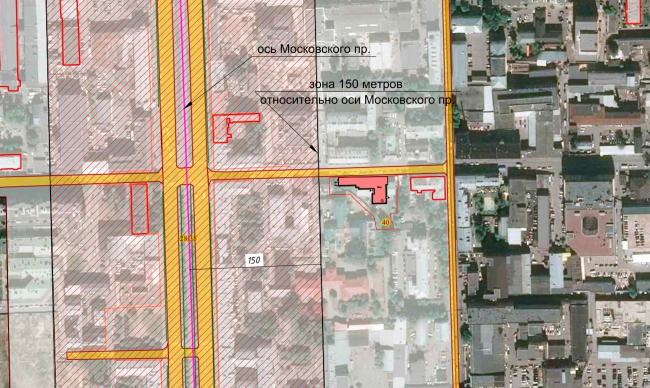 Ситуационный план. Жилой дом на Заставской (градсовет 17.07.2020)