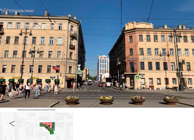 Фотофиксация. Фасадные решения относительно окружающих архитектурных объектов. Жилой дом на Заставской (градсовет 17.07.2020)