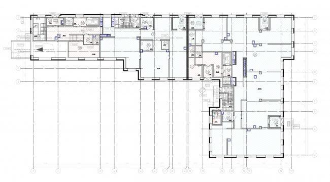 План 1-го этажа. Жилой дом на Заставской (градсовет 17.07.2020)