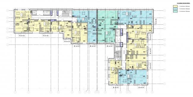 План 4-9 этажей. Жилой дом на Заставской (градсовет 17.07.2020)