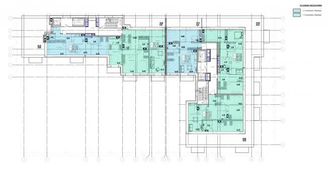 План 10-го этажа. Жилой дом на Заставской (градсовет 17.07.2020)