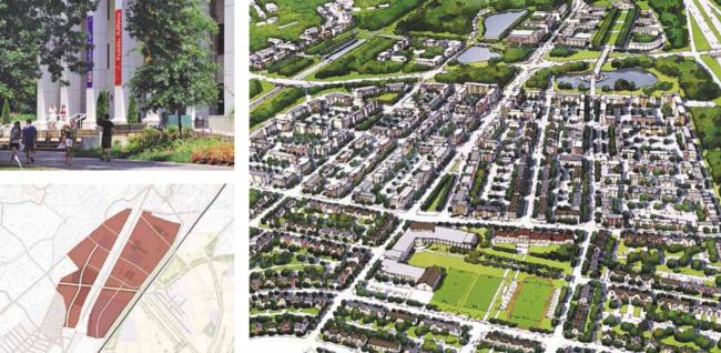 Город-спутник «Южный». Планировочные решения северной части