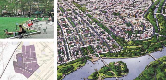 Город-спутник «Южный». Планировочные решения центральной части