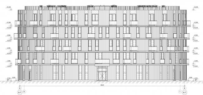 Кампус университета ИТМО. Общежития. Третий блок. Разрез 8-1