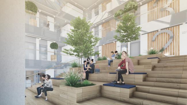 Кампус университета ИТМО. Интерьер общежития, амфитеатр