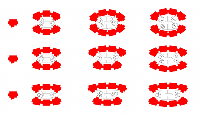Группировка модулей. Проект модульного жилища «Здоровый дом – Антивирус»
