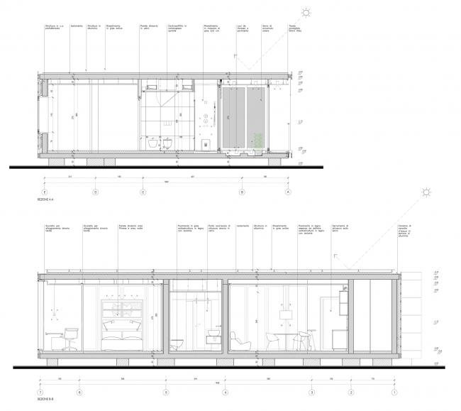 Разрезы. Проект модульного жилища «Здоровый дом – Антивирус»