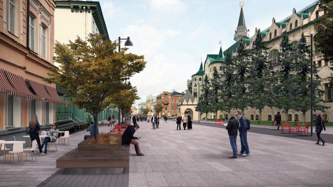 Улица Большая Покровская. Благоустройство территорий Большой Покровской улицы и площади Горького