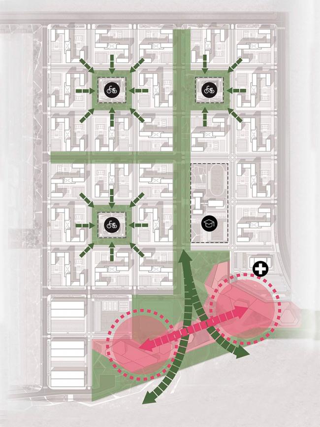 Вариант 5 – «Матрица». Схема организации территории. Концепции архитектурно-планировочного решения микрорайона в городе Саров