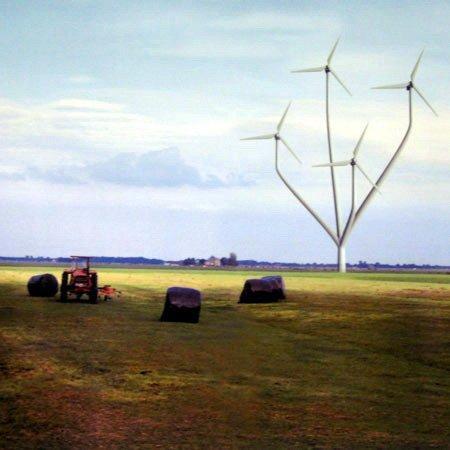 NL Architects. Flower Power. Против «неэстетичных» ветряков выступают многие голландцы. Можно ли придать им художественную ценность?